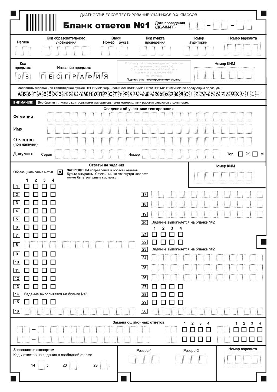 Бланк для выставления текущих оценок 6 класс
